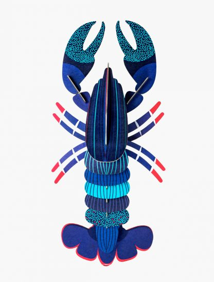 Studio Roof DIY Wall Decorations Blue Lobster