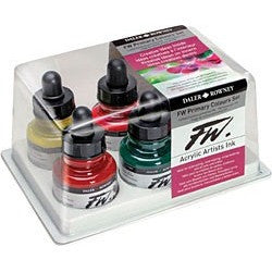 FW Acrylic Ink Primary Set of 6