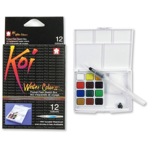 Sakura Koi Watercolour Field Pan Sets