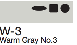 W3 Warm Gray No. 3