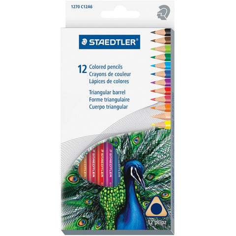 Staedtler Triangular Coloured Pencil Set of 12