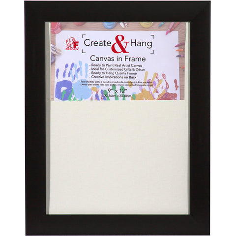 Fredrix Black Create and Hang Canvas in Frame