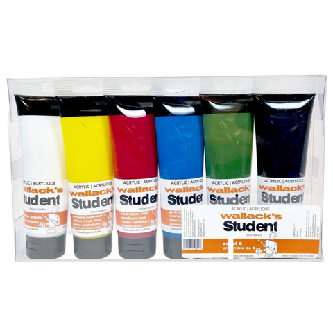 Wallack's Student Acrylic Paint Set of 6