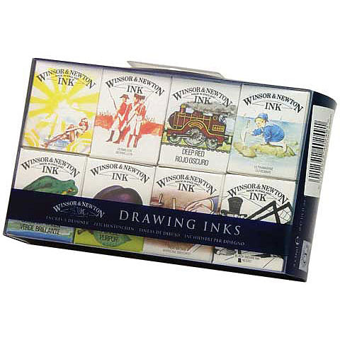 Winsor & Newton Drawing Ink Set of 8