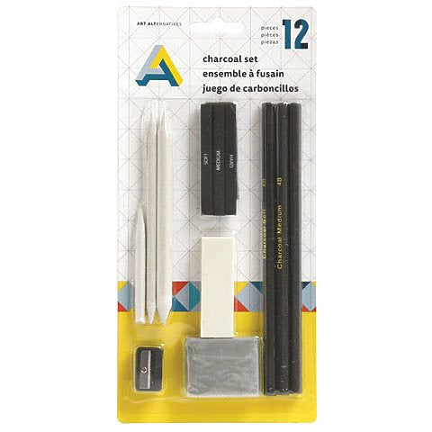 Art Alternatives 12-Piece Charcoal Set