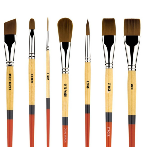 Princeton Snap! 9650 Golden Synthetic Brushes - Short Handle