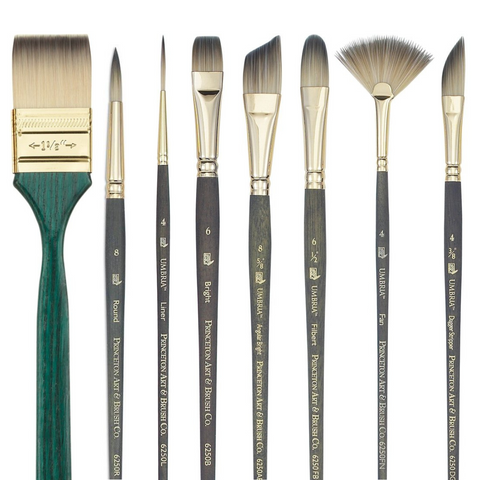 Princeton 6250 Umbria Special Synthetic Brushes - Short Handle