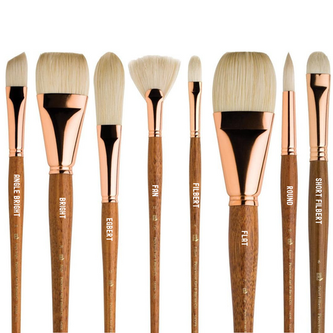 Princeton 5400 Refine Natural Bristle Brushes - Long Handle