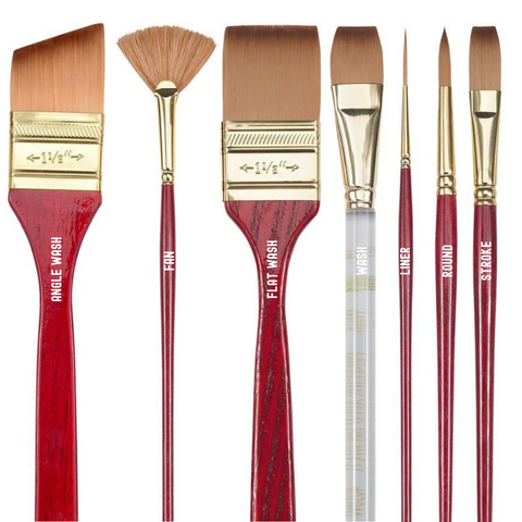 Princeton 4050 Heritage Synthetic Sable Brushes - Short Handle