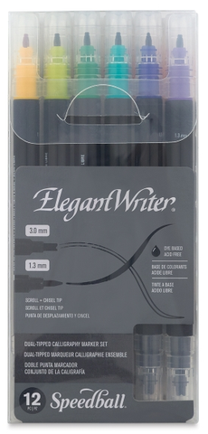 Speedball Elegant Writer Dual-Tipped Marker Sets