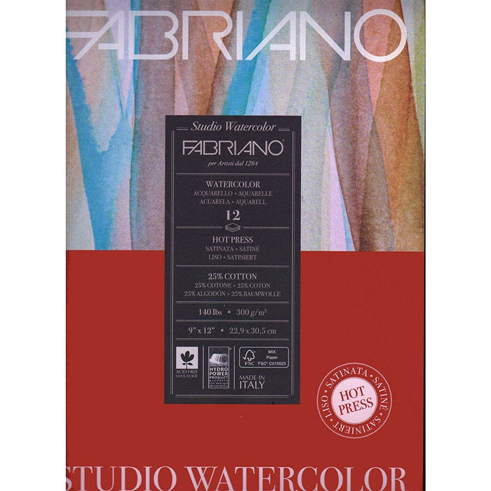 Fabriano Hot Press Watercolour Pads