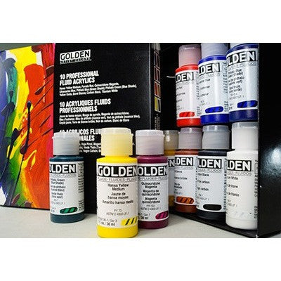 Golden Principal Professional Fluid Acrylic Set of 10