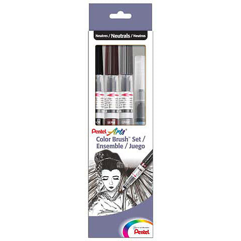 Pentel Colour Brush Set