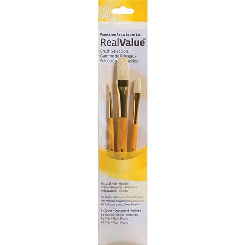 Princeton Real Value Brush Sets - Natural Bristle Hair Sets