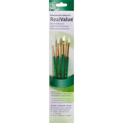 Princeton Real Value Brush Sets - White Synthetic Hair Sets