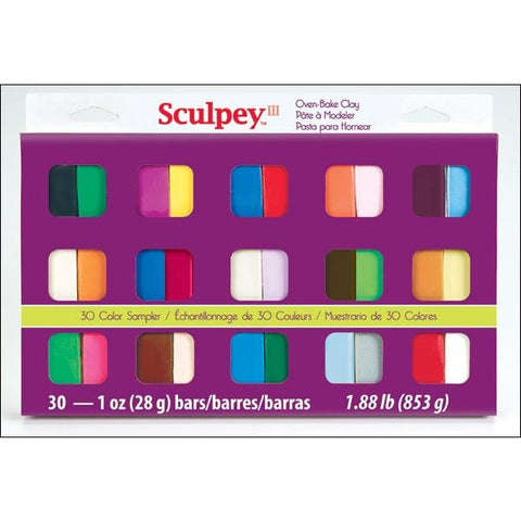 Sculpey III 30-color Sampler