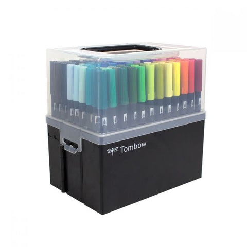 Tombow Dual Brush Pen 108 Colour Set with Case