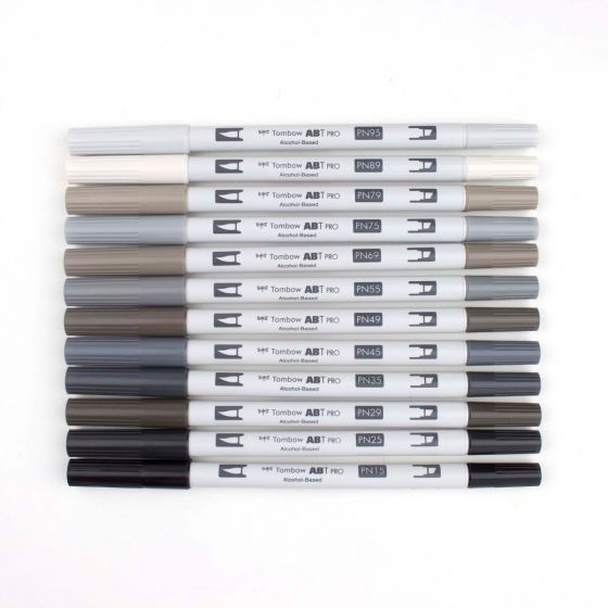 Tombow ABT Pro Alcohol-Based Art Markers Gray Palette