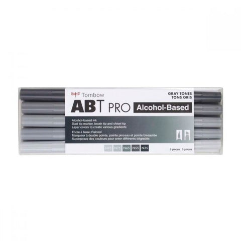 Tombow ABT Pro Alcohol-Based Art Markers Gray Tones 5-Pack