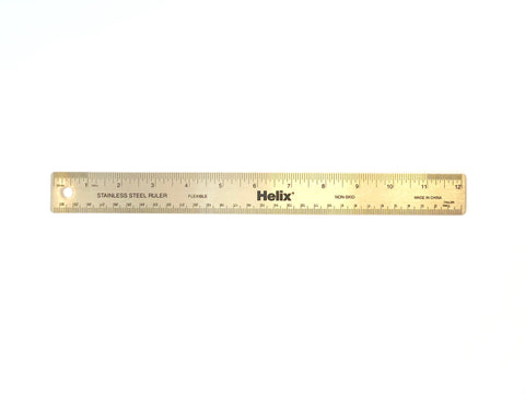 Helix Stainless Steel Ruler - 12""