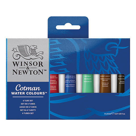 Winsor & Newton Cotman Watercolour 6 Tube Set