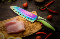 Kitchen Knife Starter Set | Green Handle & Red MagRack