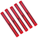 Magnetic Wall Rack-Strip for Toys & Knives, Tools & Gun Mags for Bar & Kitchen Garage Bathroom Art Supplies & Home Organizer. 5 Pack Red