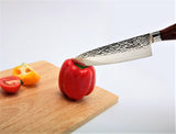 Damascus Japanese VG 10 Steel, 8  Chef s Knife, Hammered Surface, by SiliSlick     silislick.myshopify.com