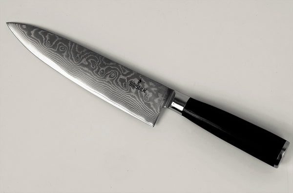 Damascus Japanese VG 10 Steel, 8  Chef s Knife, Classic Waives by SiliSlick     silislick.myshopify.com