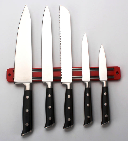 FULL TANG 5pc Stainless Steel Knife Set by SiliSlick