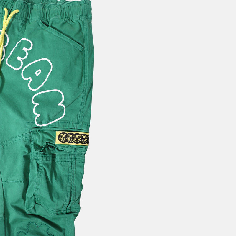 Ice Cream Clock Cargo Pant - Pine Green