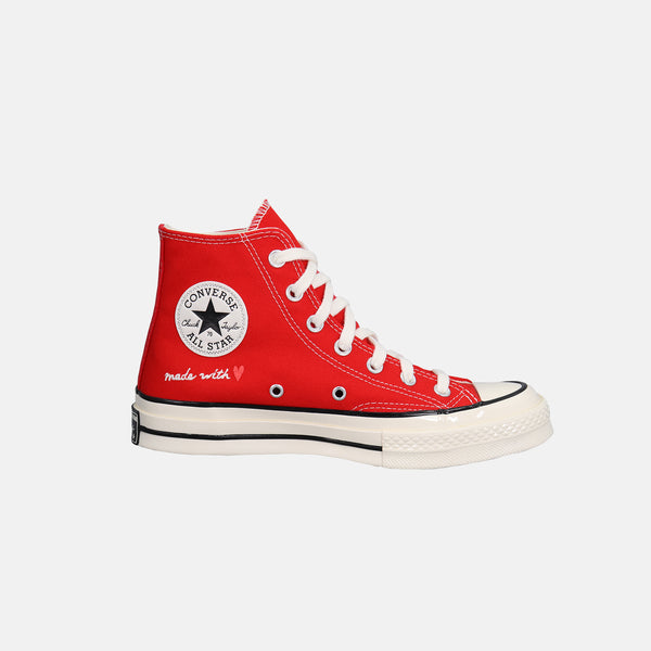 "DripLA - Converse Chuck 70 Hi ""Love"" - University Red / Egret / Black"