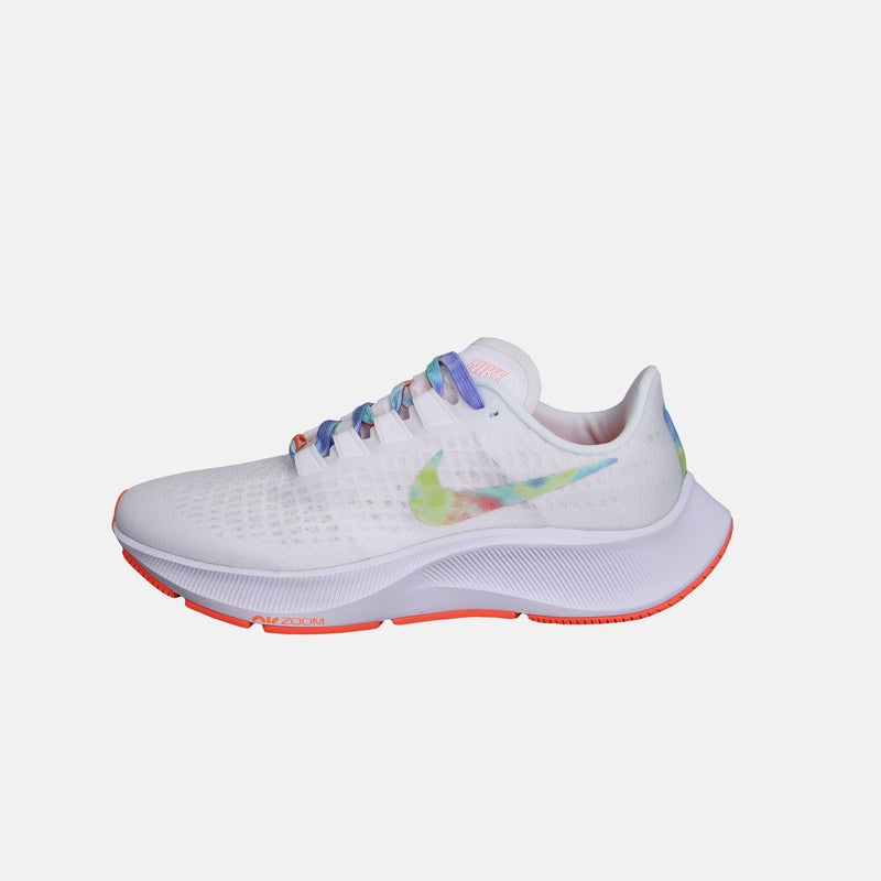 Womens Nike Air Zoom Pegasus 37 - White/Multi Color/Bright Mango
