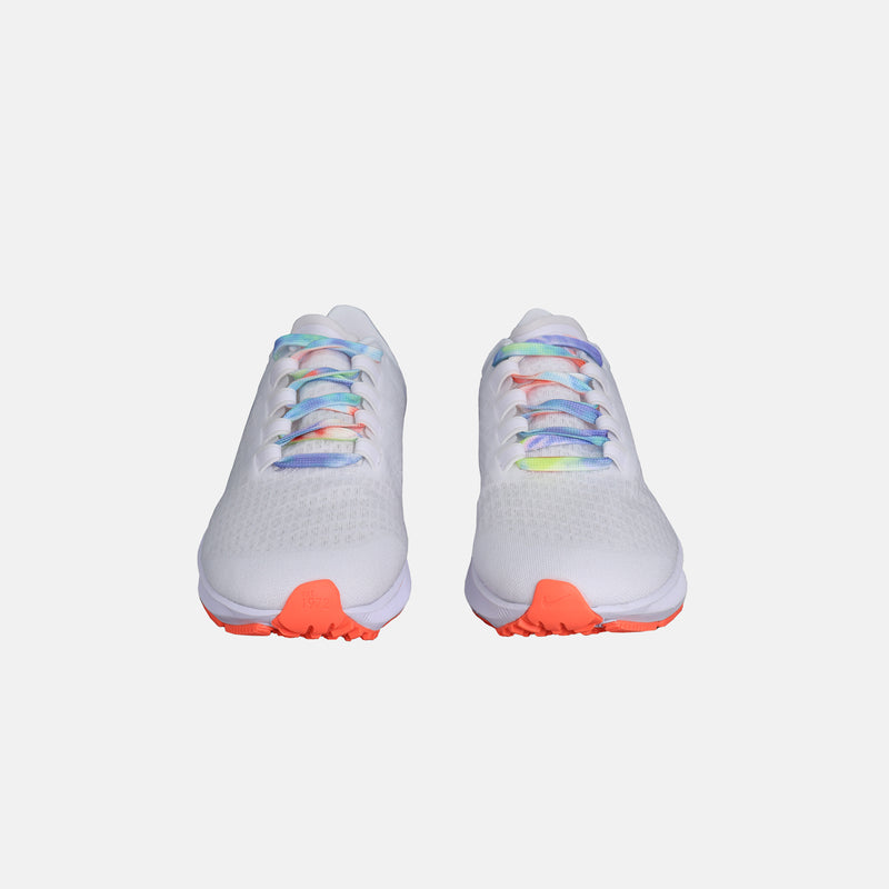 DripLA - Womens Nike Air Zoom Pegasus 37 - White/Multi Color/Bright Mango