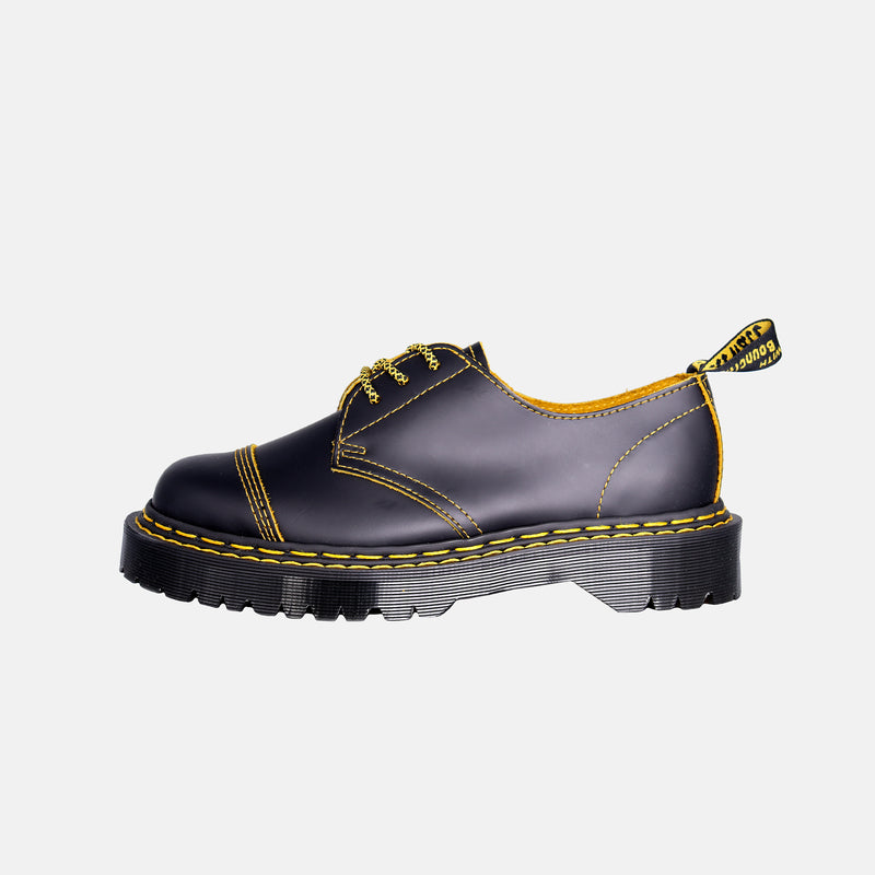 DripLA - Dr.Martens Bex Double Stitch leather Shoes - Black / Yellow Smooth Slice