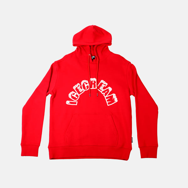 Ice Cream Arch Hoodie - Tango Red