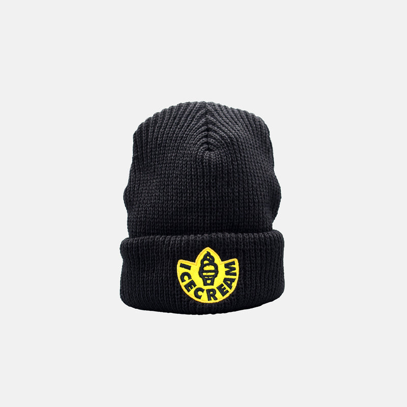 Ice Cream Rubber Knit Hat - Black