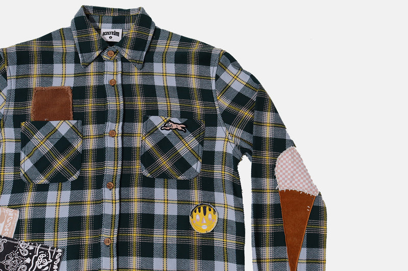 Ice Cream Sugar Cone LS Woven- Plaid