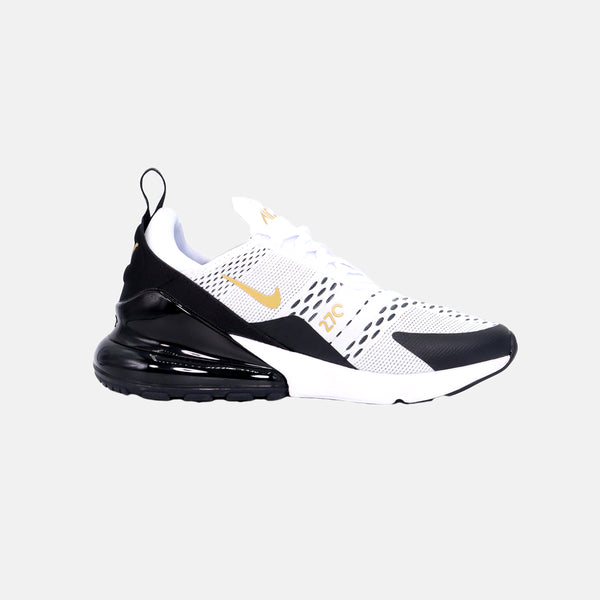 DripLA - Nike Air Max 270 - White/Metallic Gold/Black