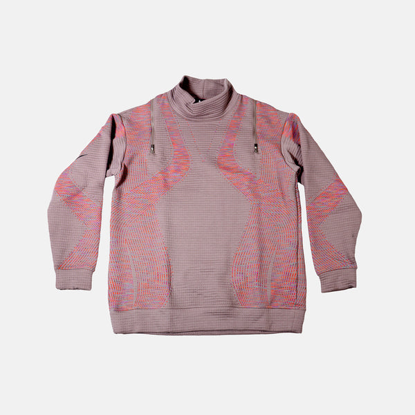 Womens Nike City Ready Oversized crew- Grey/multi