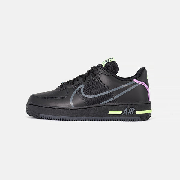 Nike Air Force 1 React- Black/Violet Star/Barely Volt/Anthracite