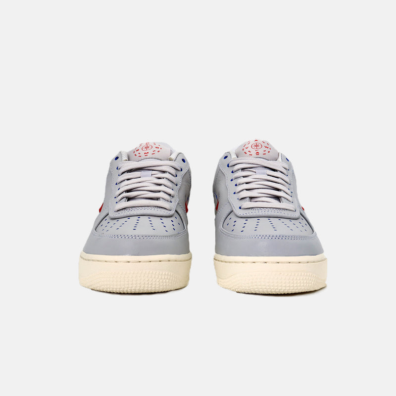 DripLA - Nike Air Force 1 '07 PRM - Vast Grey/Challenge Red