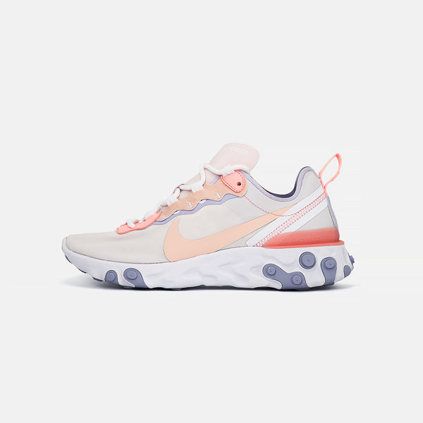 Womens  Nike React 55- Pale Pink/Washed Coral