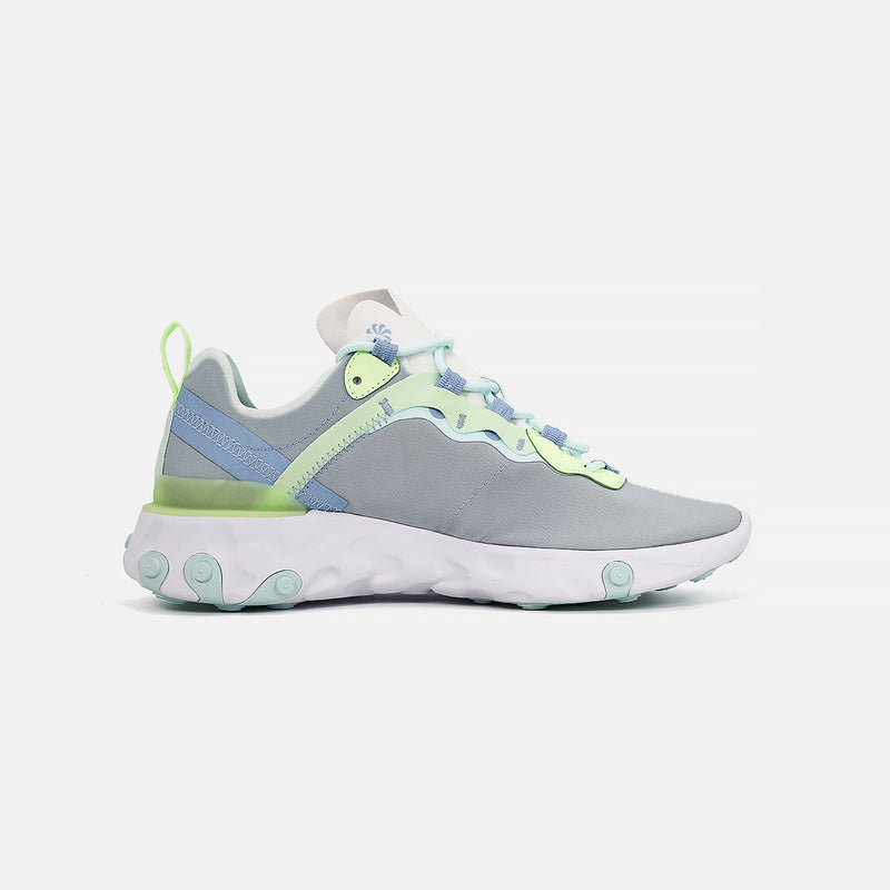 Womens  Nike React Element 55- White/Frosted Spruce