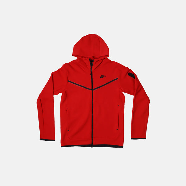 DripLA - Nike Nsw Tech Fleece Hoodie - University Red / Black