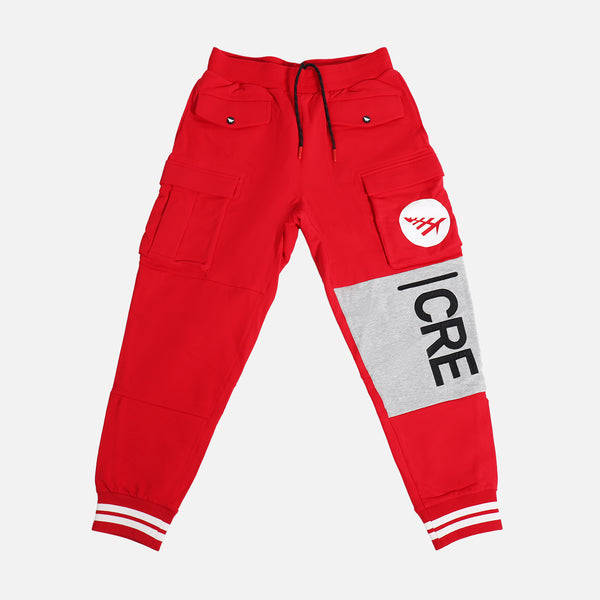 Paper Planes First Fold Cargo Pant- Crimson