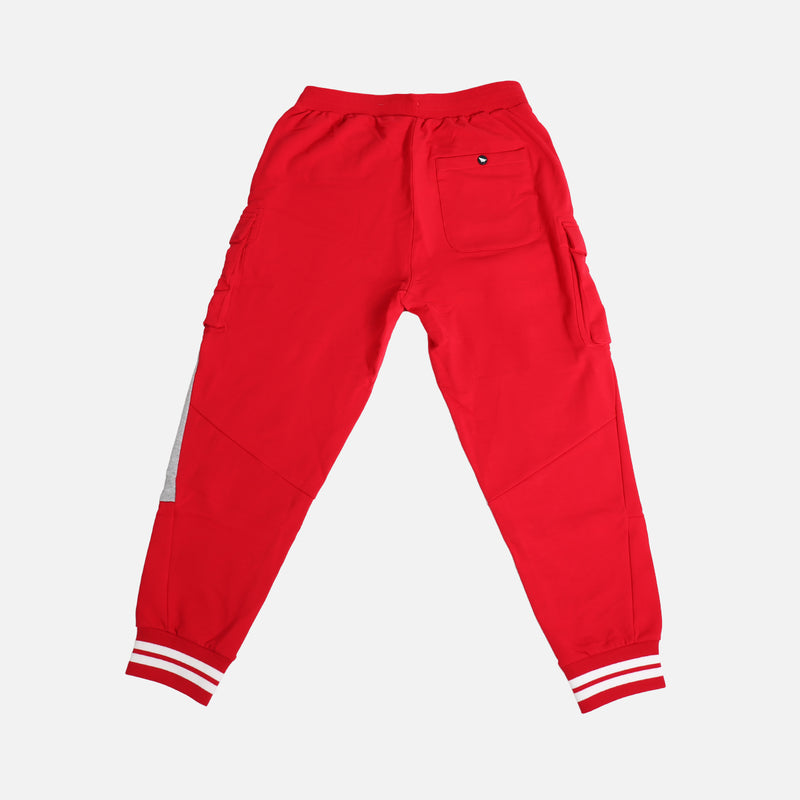 Paper Planes First Fold Cargo Pants- Crimson