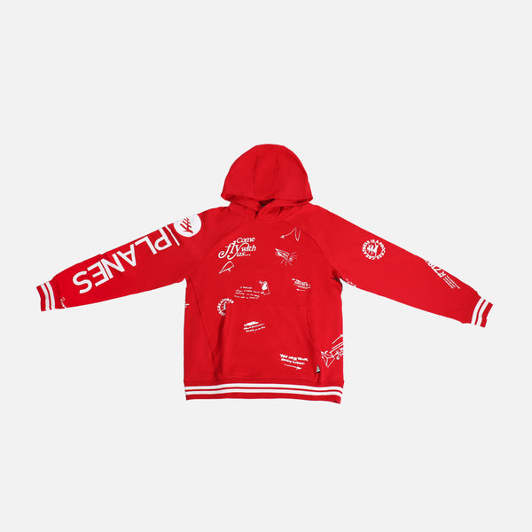 Paper Planes First Fold Hoodie- Crimson