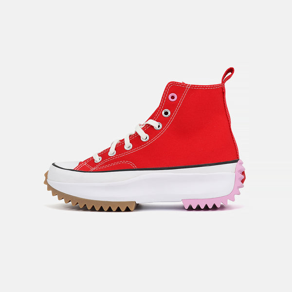 Converse Run Star Hike Hi- University Red/Peony Pink