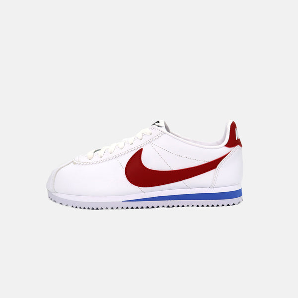 Womens  Nike Classic Cortez Leather- White/Varsity Red